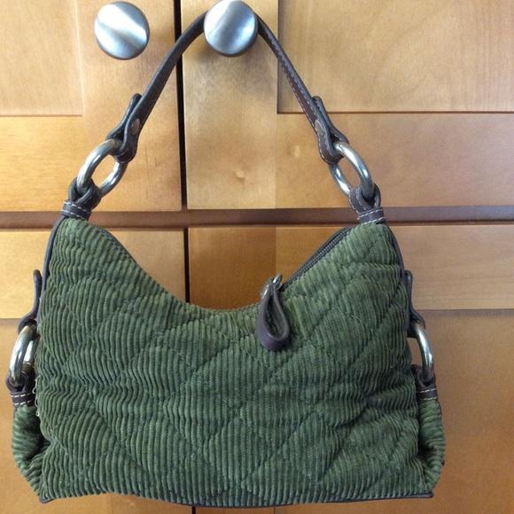 Tommy Hilfiger Handbags - Tommy Hilfiger Olive /Brown Corduroy Mini Bag